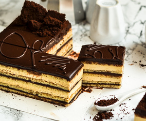buttercream, coffee, and cake image