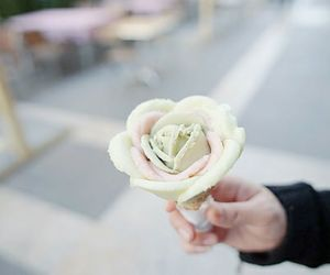 cool, flower, and ice cream image