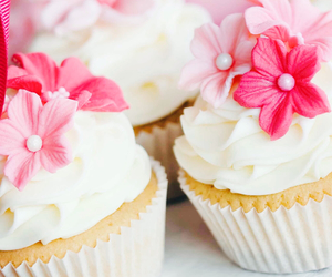 cupcake, pink, and love image