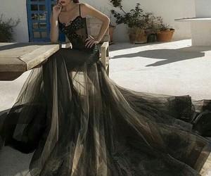 dress, fashion, and black image