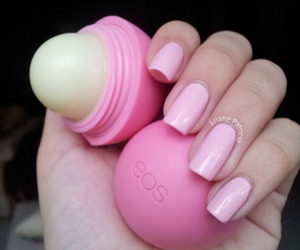 eos, pink, and nails image