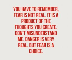choice, fear, and quote image