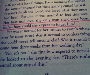 book, first love, and the notebook image