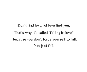 falling in love, find, and quote image