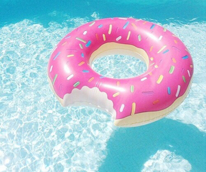 summer, donuts, and pool image