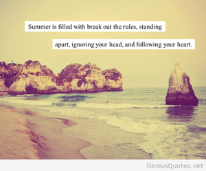 summer, quote, and beach image