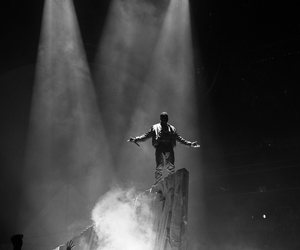 black and white and kanye west image
