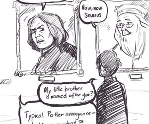 harry potter, severus snape, and dumbledore image