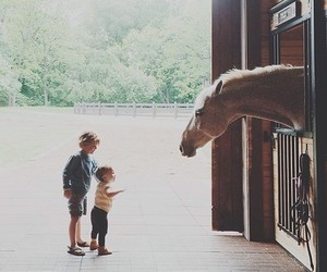 horse, love, and kids image