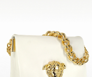 bag, gold, and Versace image