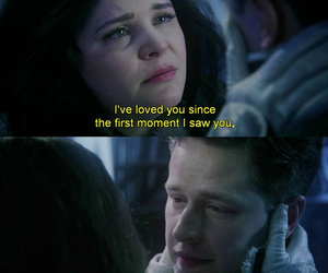 once upon a time, snow white, and love image