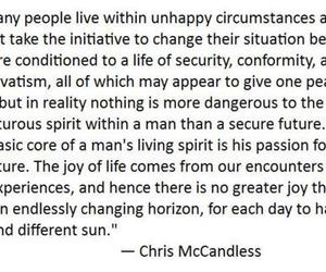 chris mccandless, quote, and text image