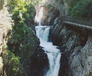 nature, beautiful, and waterfall image