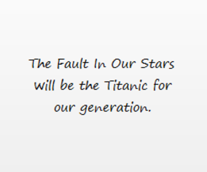 titanic, the fault in our stars, and tfios image
