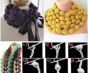 crochet, diy, and scarf image