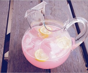 pink, drink, and lemonade image