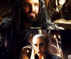 the hobbit, thranduil, and thorin image