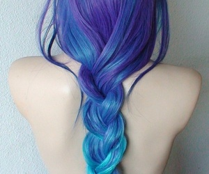 beautiful, hairstyle, and lightblue image