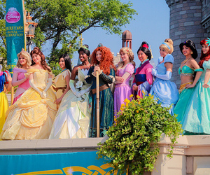 princess, disney, and disneyland image