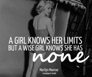 quote, Marilyn Monroe, and limit image