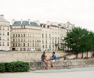 couple, bike, and city image