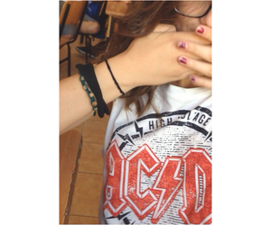 ACDC, girl, and selfie image