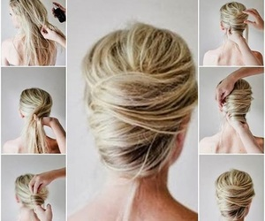 french, twist, and hairstyle image