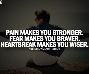 pain, fear, and quote image