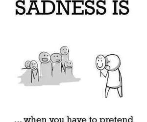 sadness, sad, and happy image