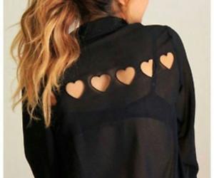 fashion, black, and heart image
