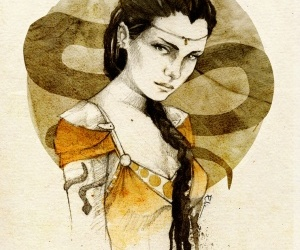nymeria sand and game of thrones image