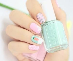 nails, nail art, and essie image