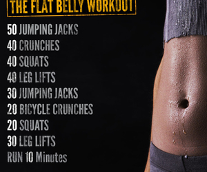 abs, workout, and flat stomach image