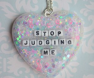 glitter, heart, and stop image