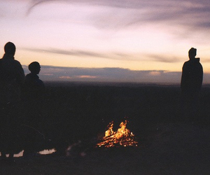 fire, friends, and hipster image
