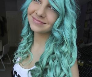 blue hair, color, and hairstyle image
