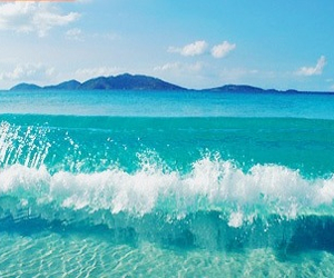 summer, beach, and waves image