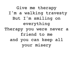 all time low, nothing personal, and therapy image
