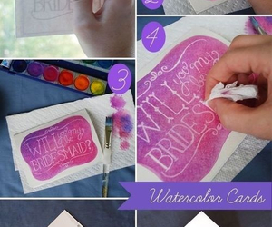 diy, watercolor cards, and cute image