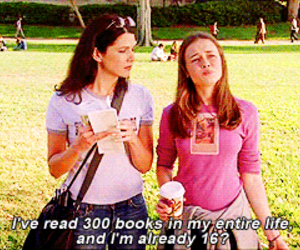 books, gilmore girls, and rory image