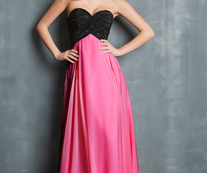 elegant, prom dress, and evening gown image