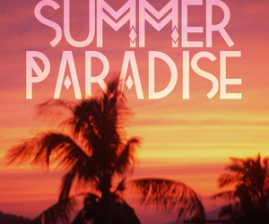 summer, paradise, and love image