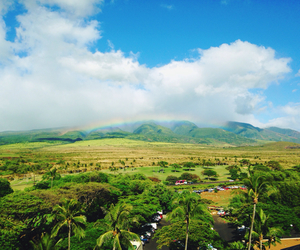 hawaii, maui, and rainbow image