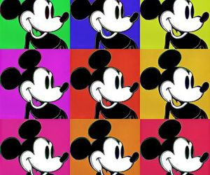 mickey, mickey mouse, and popart image