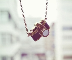 camera, necklace, and photography image