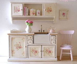 kitchen and shabby chic image