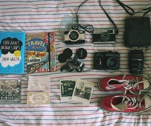 camera, book, and converse image