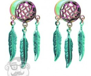 dreamcatcher, gauges, and Plugs image