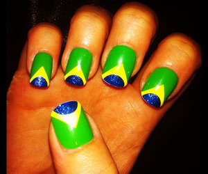 brazil and nails image