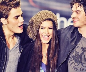 Nina Dobrev, ian somerhalder, and paul wesley image